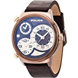 ef7e82b5d Police Watch for Men, leather Band, Quartz, PL.14376JSR/02: Amazon.ae