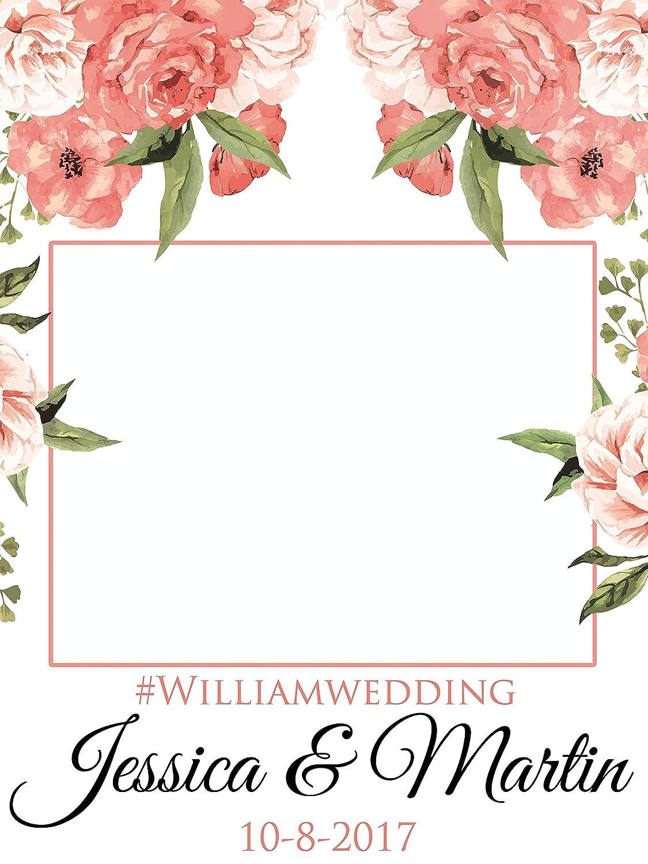 Amazoncom Custom Floral Wedding Photo Booth Frame Sizes 36x24