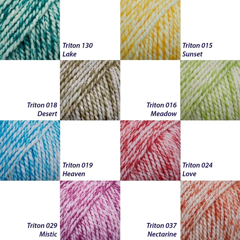 Lanas para labores Desert 018 Valeria Triton - 70/% acr/ílico 30/% lana Paquetes 20 ovillos - 50 gramos c//u