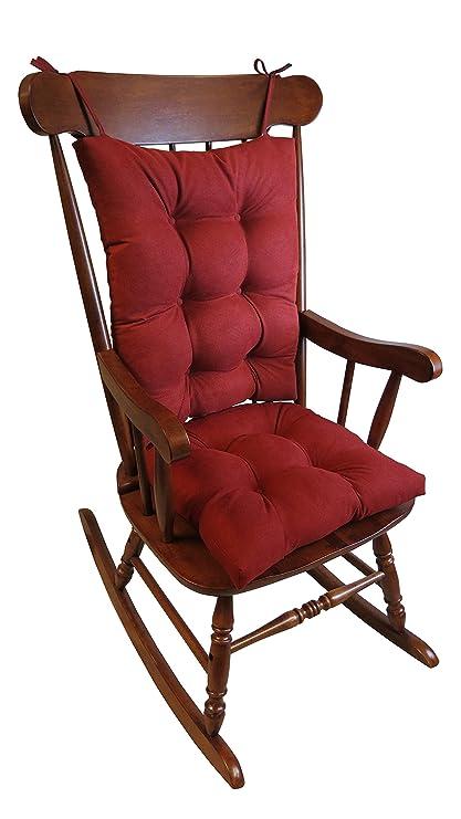 Klear Vu The Gripper Non Slip Rocking Chair Cushion Set Honeycomb, Red