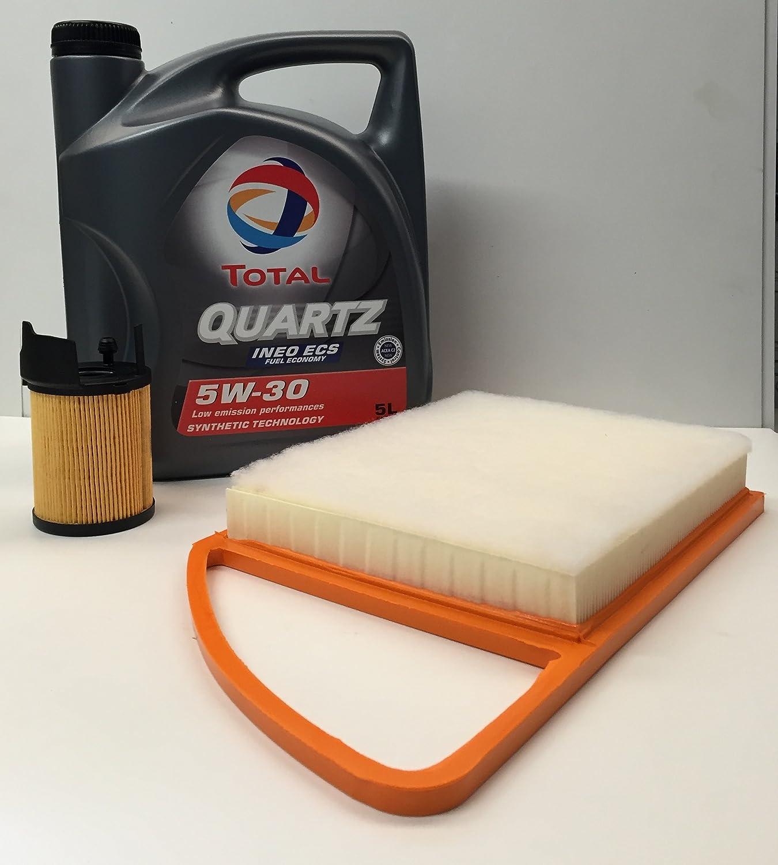 Set Mit Motoröl Total Quartz Ineo Ecs 5 W30 5 Liter Luftfilter Ölfilter Für Motoren Von Citroen Peugeot 2012 1 6 Hdi Auto