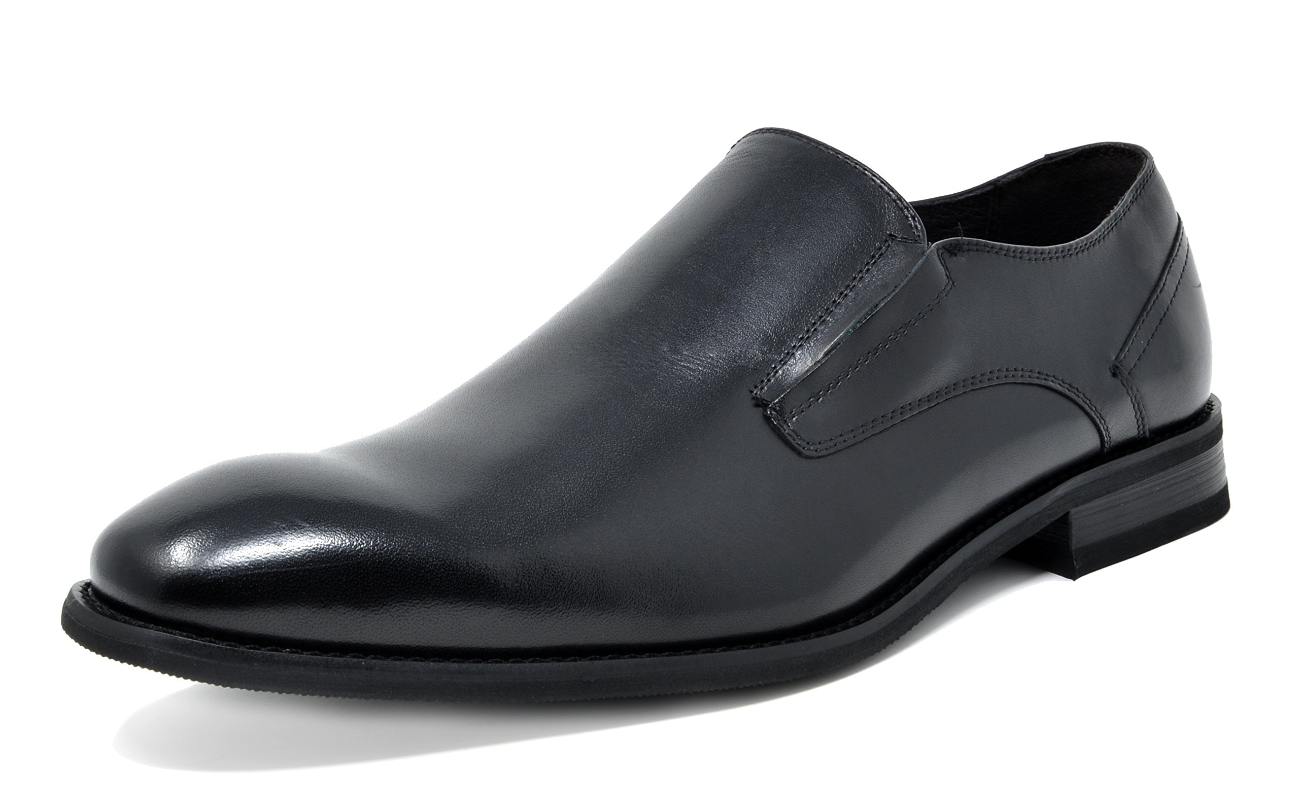 BRUNO MARC NEW YORK Bruno Marc Men's WASHINGTON-6 Black Leather Lined Dress Loafers Shoes Size 9.5 M US by BRUNO MARC NEW YORK
