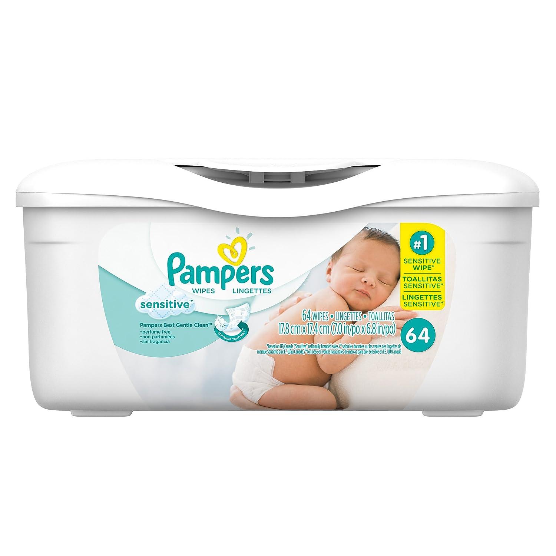 Pampers Sensitive Wipes Tub 64 Count (Pack of 8): Amazon.es: Salud y cuidado personal