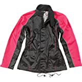 Joe Rocket RS2 Womens 2-Piece Motorcycle Rain Suit (Black/Pink, Large)