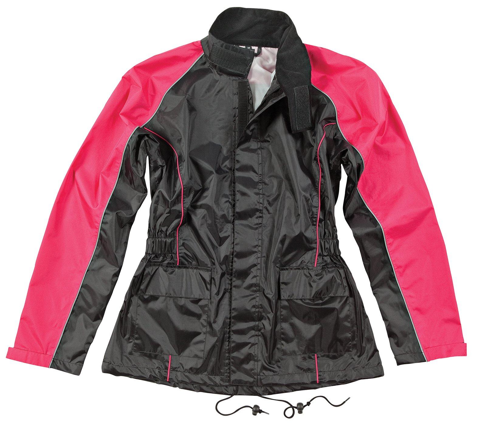 Joe Rocket RS2 Womens 2-Piece Motorcycle Rain Suit (Black/Pink, X-Large)