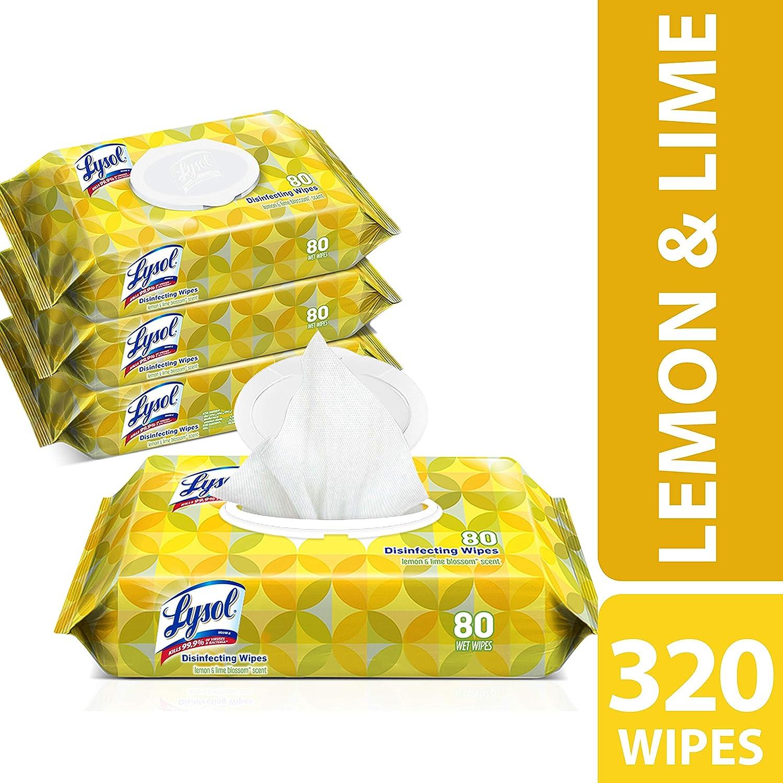 amazon com lysol handi pack disinfecting wipes 320ct 4x80ct