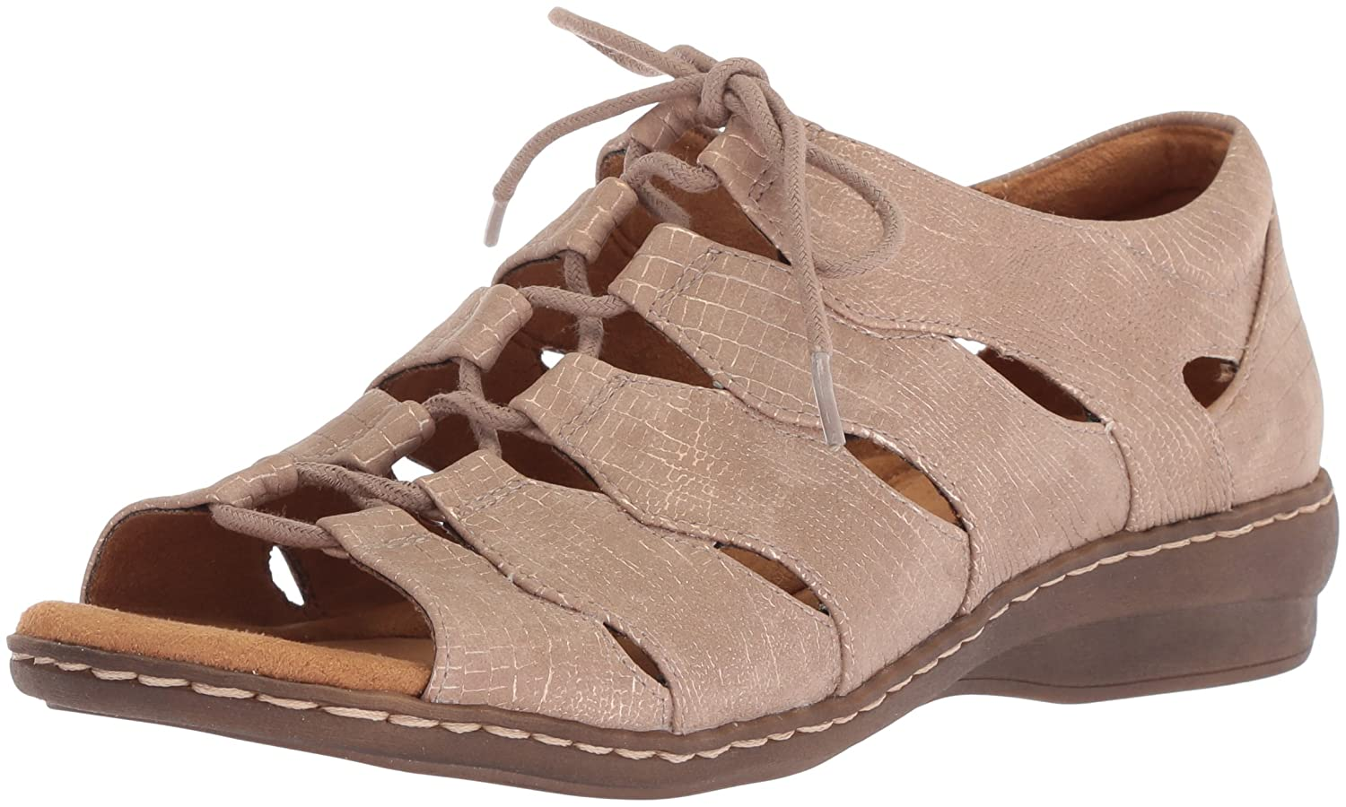 NATURAL SOUL Women's Beatrice Fisherman Sandal B072BC6K3J 7.5 W US|Rose