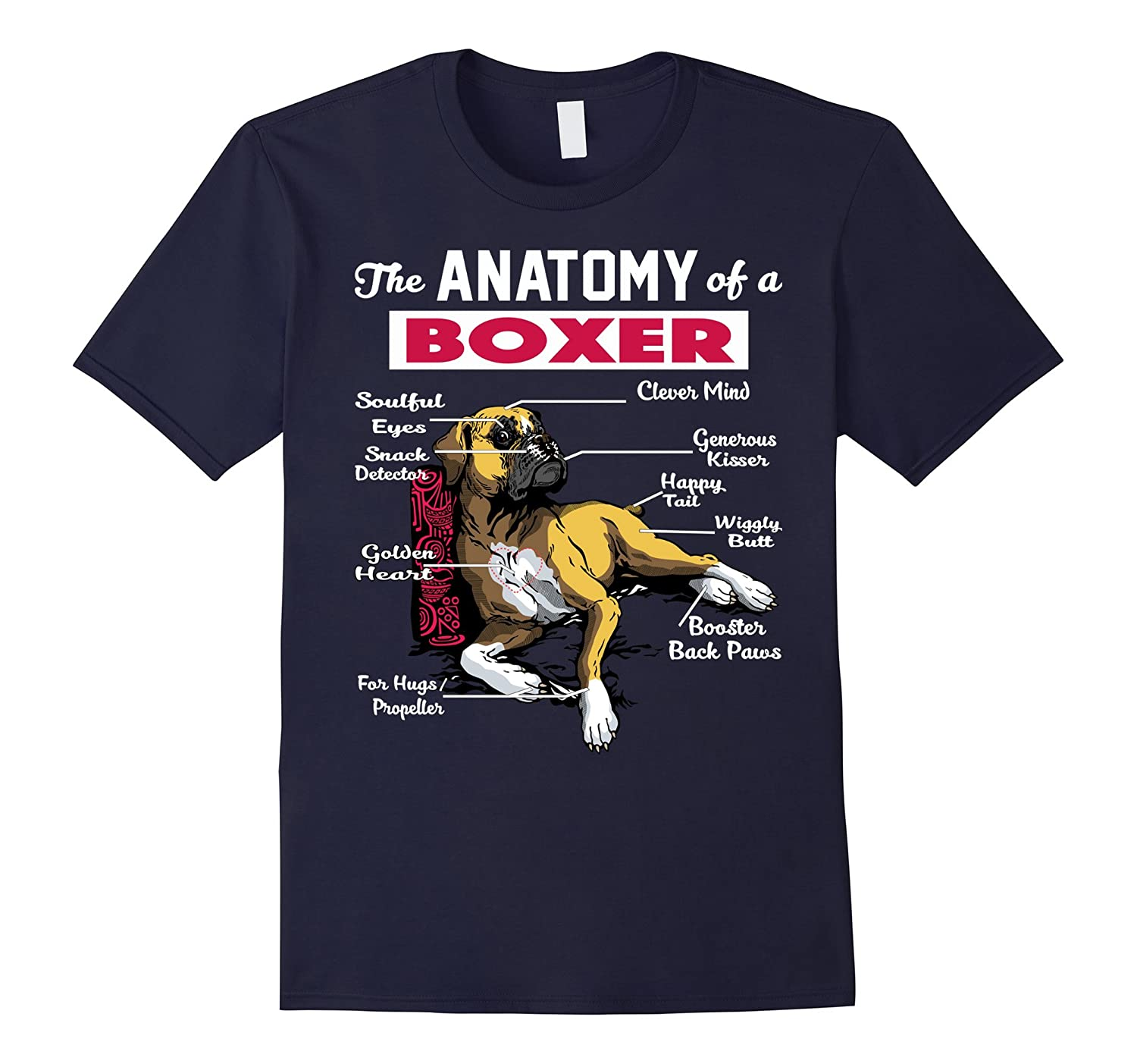 Anatomy of a Boxer Dog shirt - Funny Shirt for Boxer lover-ANZ