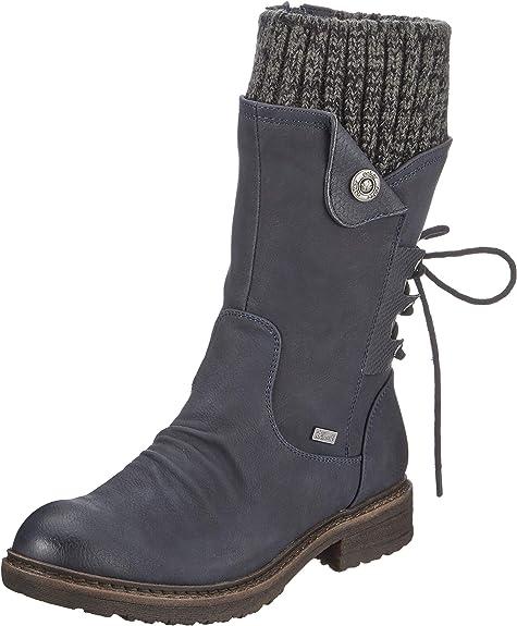 Rieker Stiefel 94750 Rieker Schlussverkauf Damen 14 blau