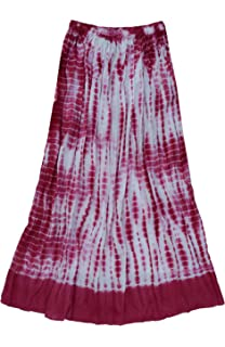 752f8b788ee Ayurvastram Pure Cotton Crinkled Crushed Block Printed Long Skirt at ...