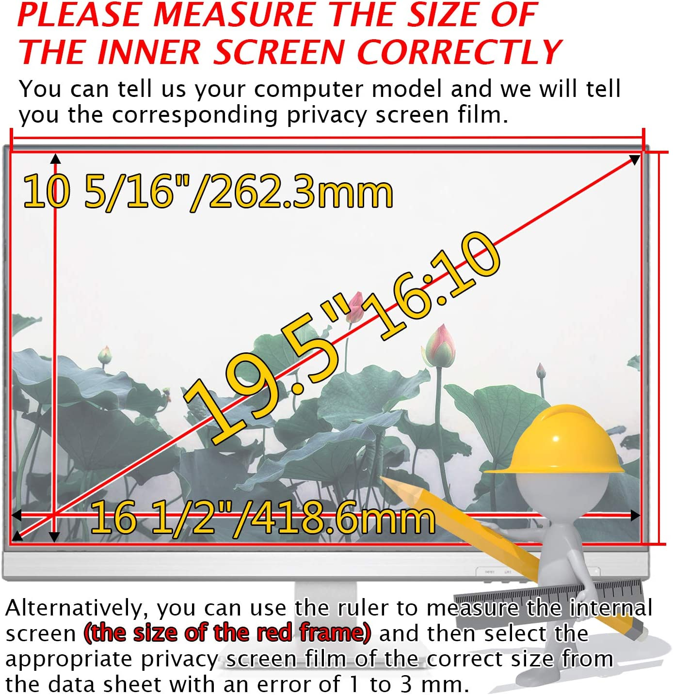 21:9 Aspect Ratio 26.54x11.22 inch//674x285 mm MAYAMANG 29 Privacy Filter Display Filter Film Privacy Screen Protector for Straight//Curved Screen Computer Monitor