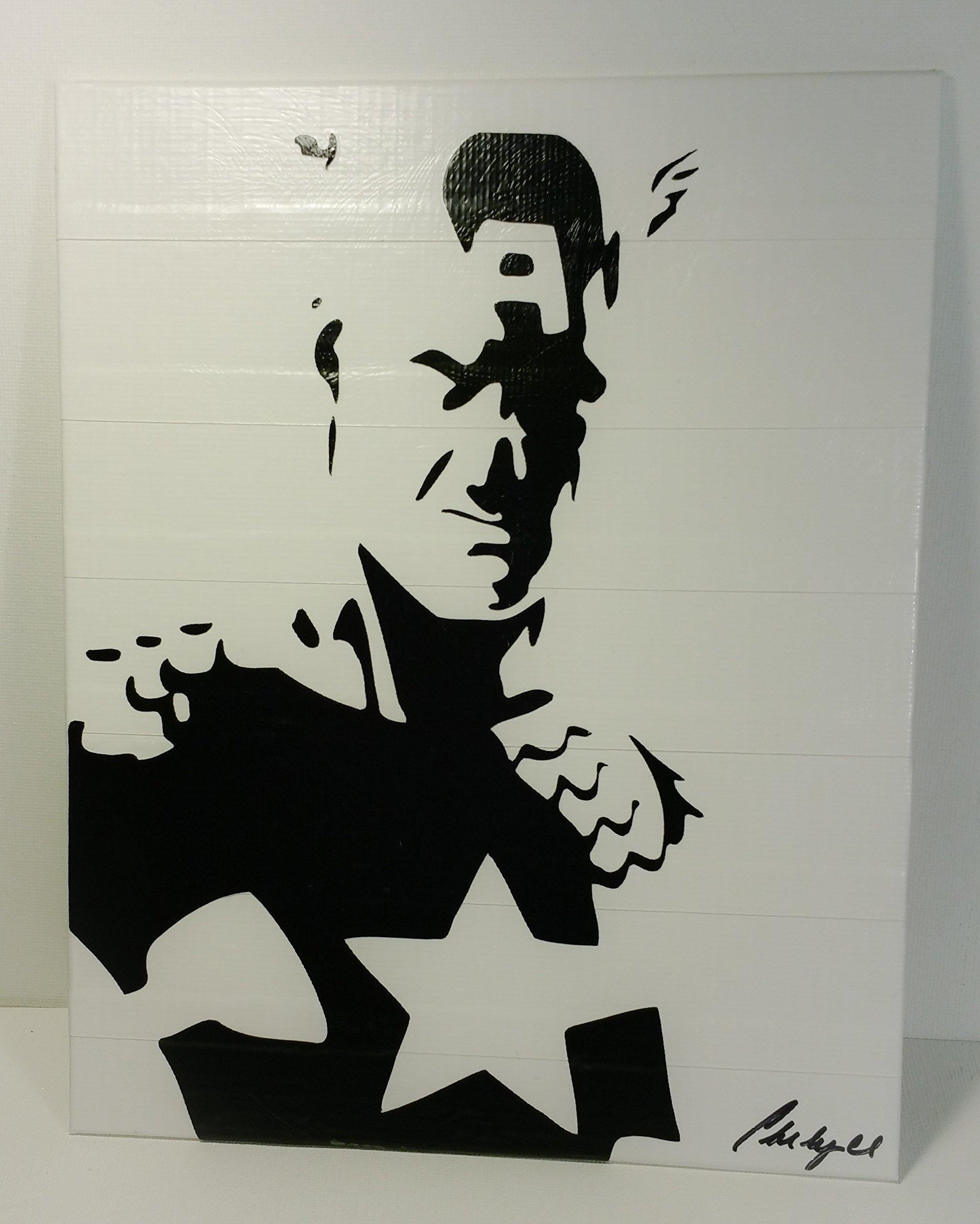 Duct Tape Art Piece of Captain America