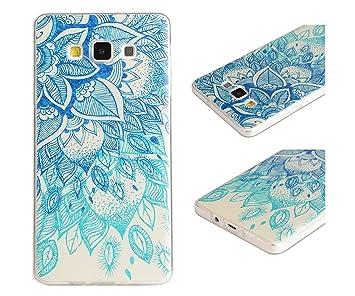 ZeWoo para Samsung Galaxy A5 (2015) / A5 (2015) Duos (5 Pulgadas) Cáscara Carcasa y Funda de Silicona - YG009 / Hojas Azules