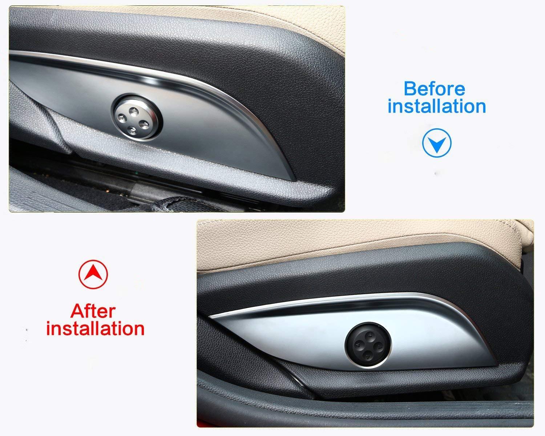 2017 GLC Klasse 2015 2016 C Klasse W205 2015 2016 CLS-Klasse Carbon Innendekoration ABS Chrom Sitz Adjust Switch Button Zubeh/ör Rahmen Cover Panel Trim Sticker f/ür E-Klasse W212 W213 2010