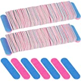 300 Pack Mini Disposable Nail Files Double Sided Emery Boards Manicure Pedicure Tools(180/240 Grit))