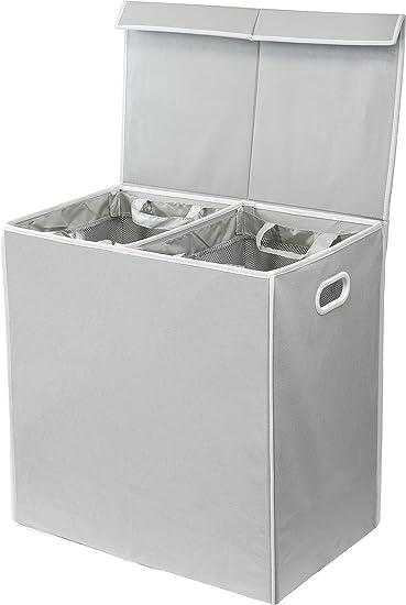 Amazon.com: Simple Houseware - Cesta doble para la ropa ...