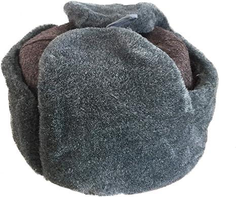 Ganwear/® Aut/éntico ej/ército Ruso Ushanka Sombrero de Invierno Soldado sovi/ético con Insignia