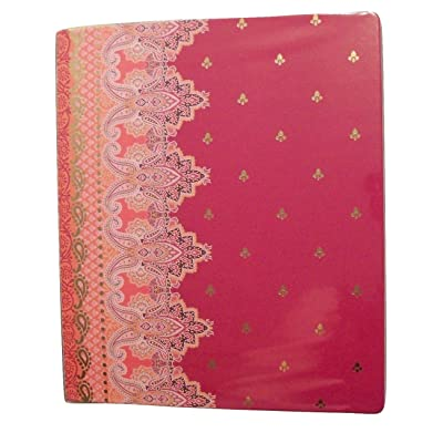 Carolina Pad Studio C The Taj Mahal Collection 1 Inch O-Ring Vinyl Binder with Pockets (Violet, Pink and More, 10 Inches x 11.5 Inches): Office Products