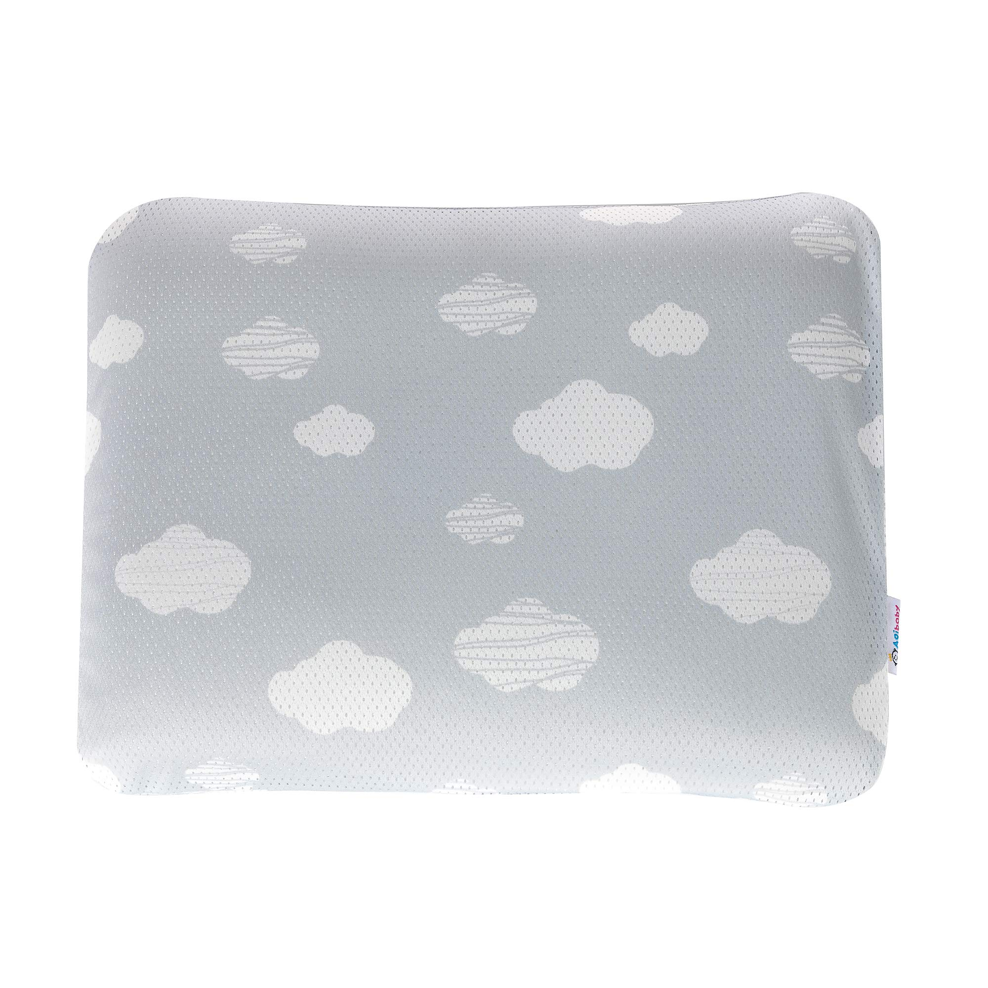 AgiBaby Hypoallergenic 3D Air Mesh Cool Pillow (Toddler Cloud)