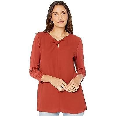 Lyssé Women's Caton Top Shirt, Picante, M: Clothing