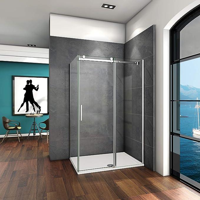110x70x195cm Mamparas de ducha cabina de ducha 6mm vidrio templado ...