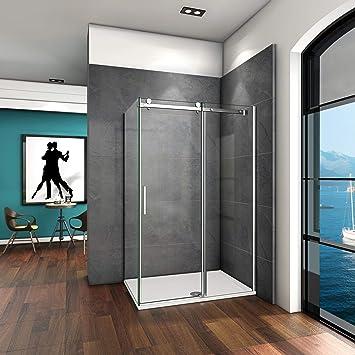 110x70x195cm Mamparas de ducha cabina de ducha 6mm vidrio templado de Aica: Amazon.es: Bricolaje y herramientas