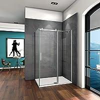 100x80x195cm Mamparas de ducha cabina de ducha 6mm vidrio templado de Aica