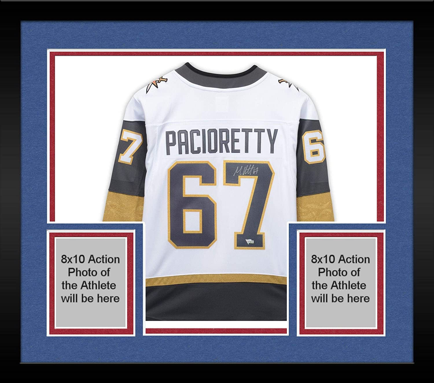 size 40 3dc9c a3dcf Framed Max Pacioretty Vegas Golden Knights Autographed White ...
