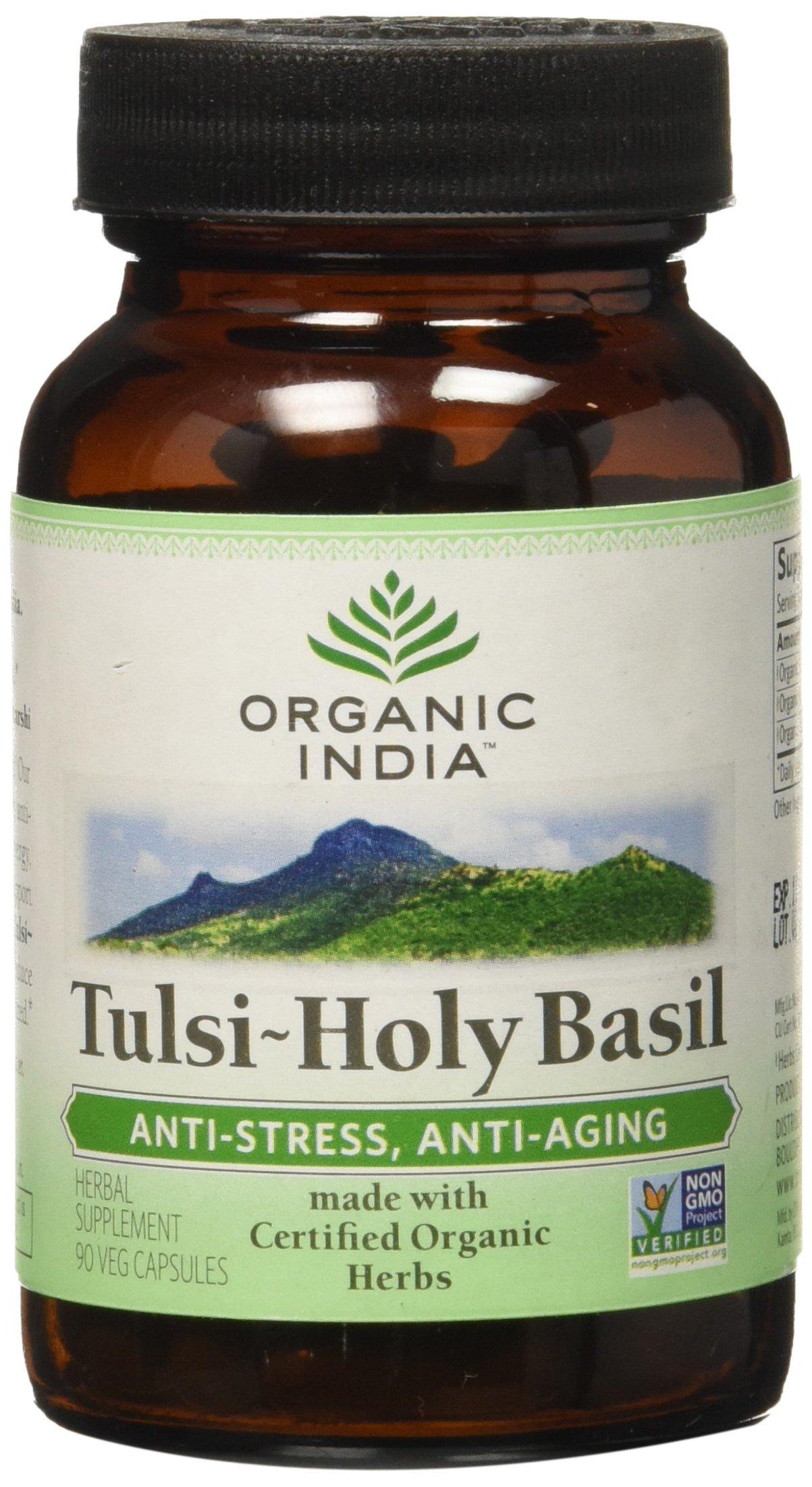 Organic India Tulsi Holy Basil, 90 Count