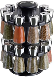 Cole U0026 Mason Herb And Spice Rack With Spices   Revolving Countertop  Carousel Set Includes 20