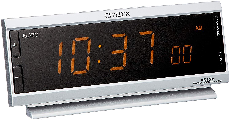 CITIZEN目覚し時計 パルデジットピュア 電波時計LED表示 AC電源 8RZ099-019