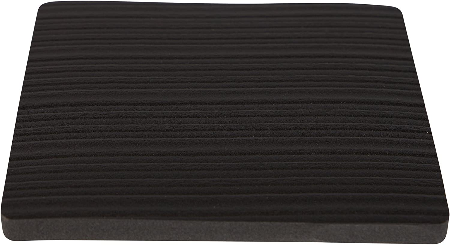 Stay! Furniture Pads, Square Furniture Grippers, Gripper Pads, Protect Your Floor | Works on Hardwood Floors and Carpet, Anti-Slip | Square, Black, Set of 4 (6 inch)