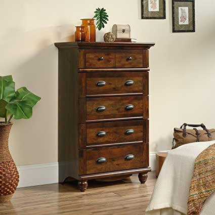 Amazon Com Charming 5 Drawer Chest Drawers Feature Metal Runners