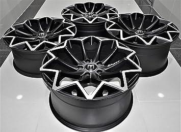 Amazon.com: Llantas negras de 18 pulgadas con diseño de ...
