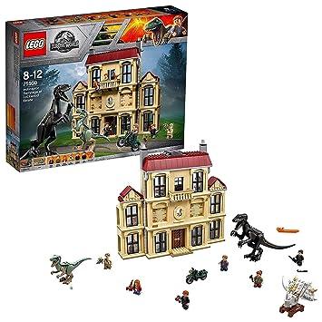 LEGO 75930 Jurassic World Indoraptor Rampage at Lockwood Estate Hybrid  Species Dinosaur Figures in Mystery Mansion, Fallen Kingdom Movie Set for  8-12
