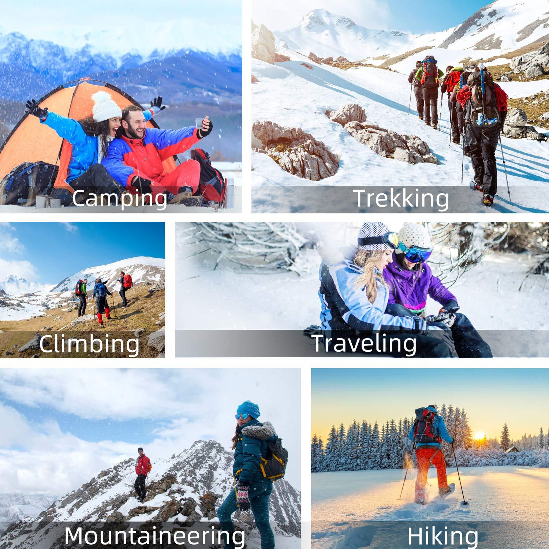 PELLOR Sac /à Dos Randonn/ée 50L Sac de Montagne Bagage Trekking Camping Imperm/éable Travel Backpack pour Voyage