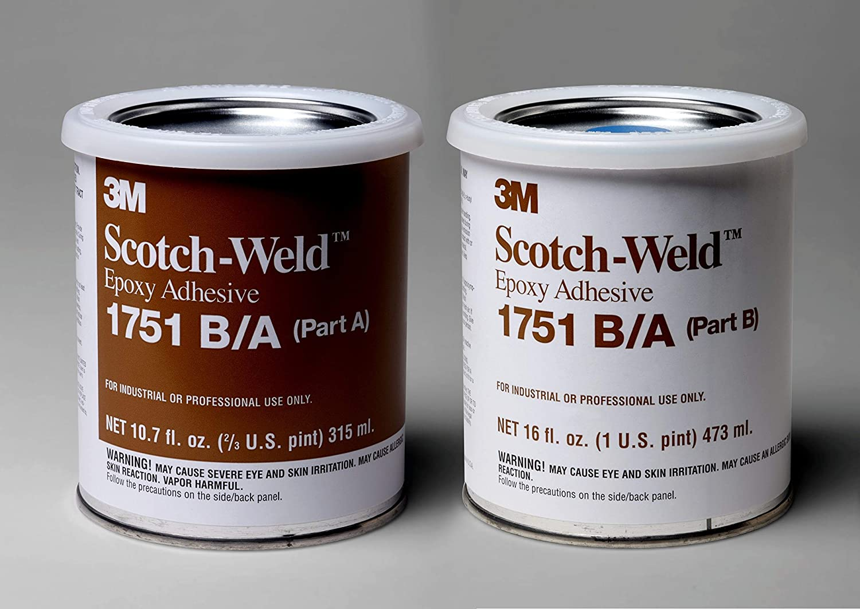 3M Scotch-Weld Epoxy Adhesive 1751, Gray, Part B/A, 1 Pint Kit