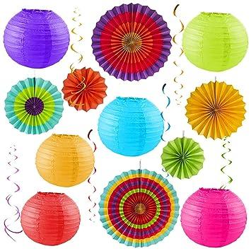 Sterling James Co. Paquete para Fiesta Colorida – Decoración para Cumpleaños – Fiesta al Aire Libre – Cinco de Mayo – Baby Shower – Boda – Despedida ...