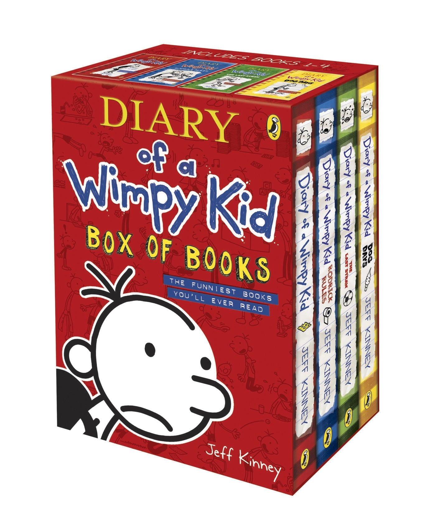 Diary of a wimpy kid box of books 1 8 the do it yourself book diary of a wimpy kid box of books solutioingenieria Images