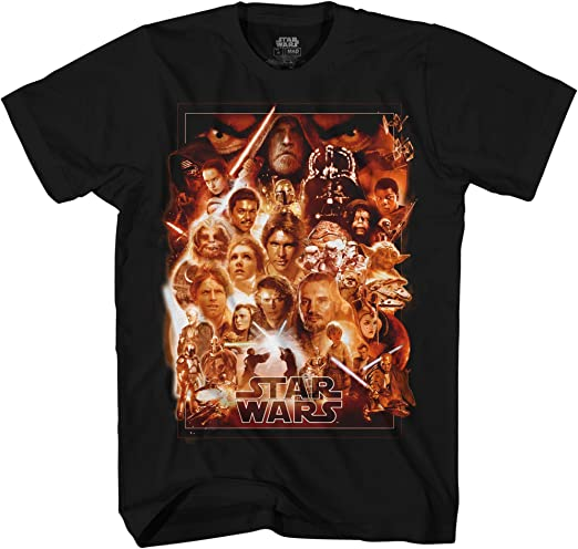 Star Wars Camiseta Group Faces Jedi Yoda Darth Vader Maul Skywalker: Amazon.es: Ropa y accesorios