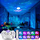 Starry Sky Projector without Noise,43 Projection Modes,10 Color Effect,Remote Control,Anti-LED Locking Ring Night Light,360°T