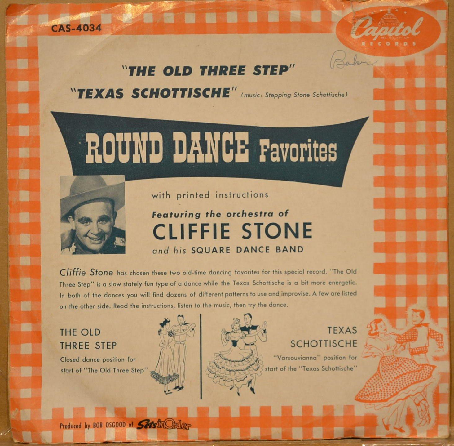 Cliffie Stone Orchestra The Old Three Step Texas Schottische