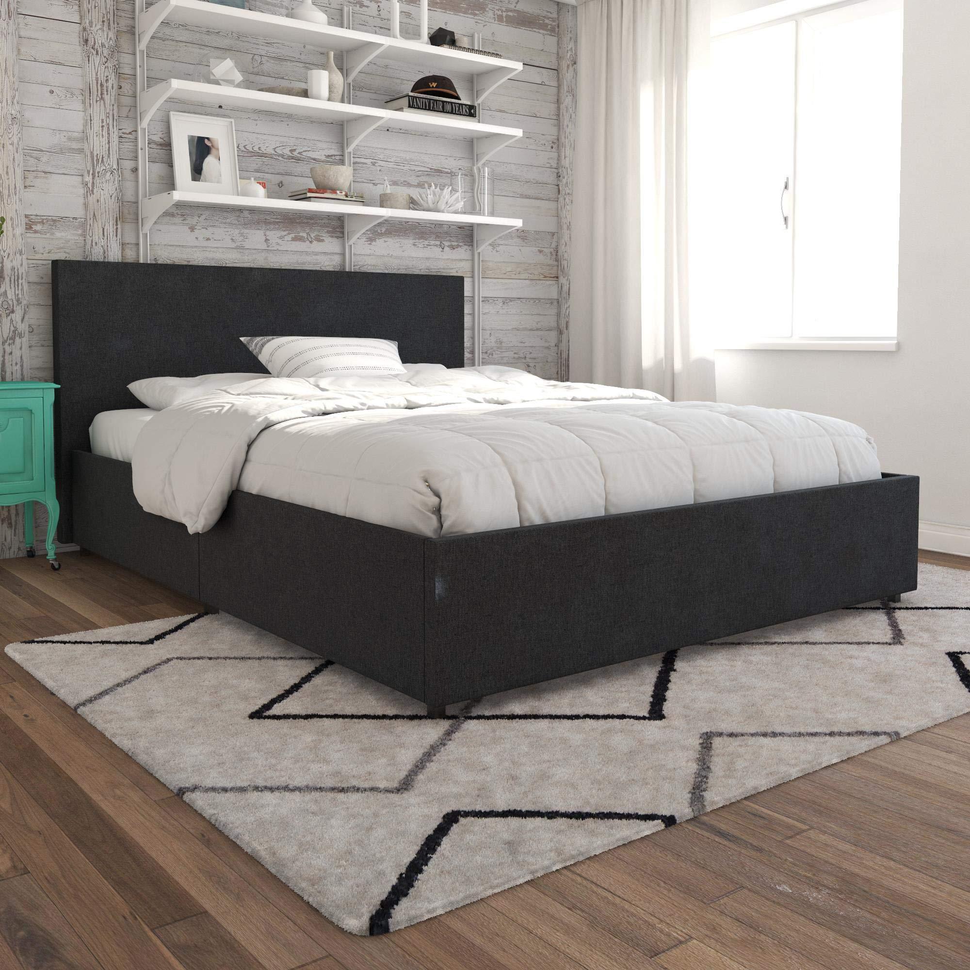 Novogratz Kelly Bed with Storage, Queen, Dark Gray Linen by Novogratz (Image #10)