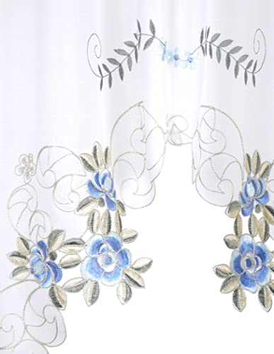 Today's Curtain Verona Reverse Embroidery Window Swag