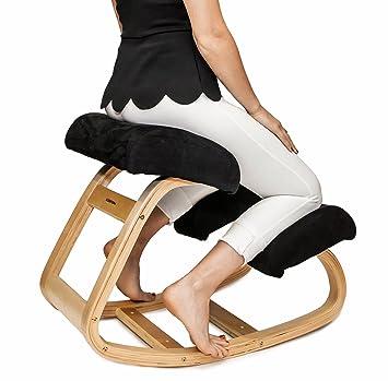 Unique Ergonomic Chair Kneeling Better Posture Stool Great Home Office Or Desk Inside Design Decorating