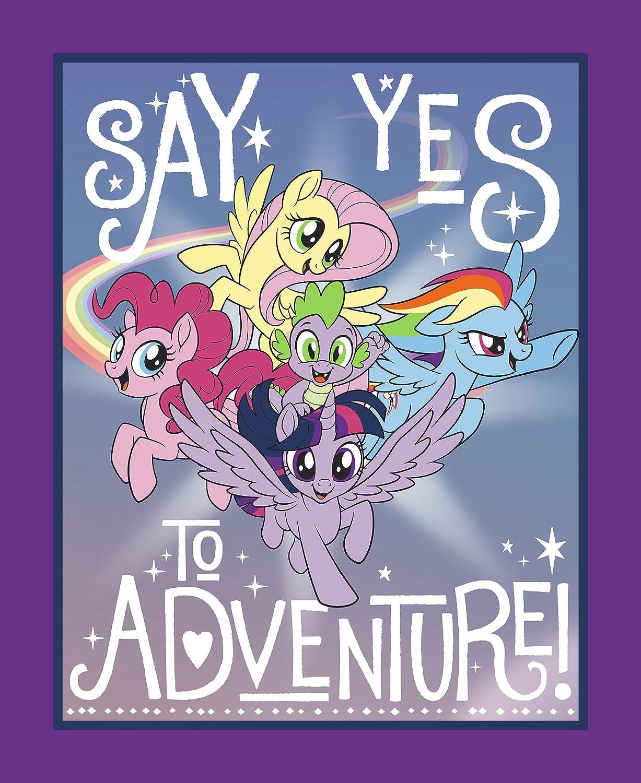 Hasbro Bros 65596-A62C831 My Little Pony Say Yes to Adventure No Sew Fleece Throw Kit, Multi