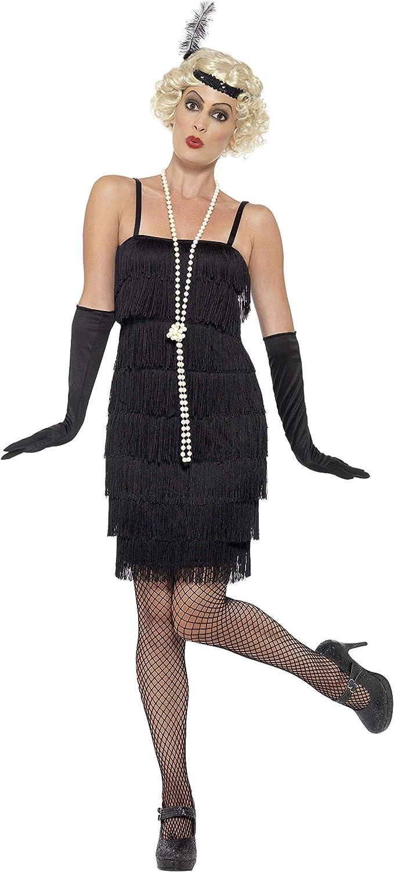 Smiffys - Disfraz para mujer, Flapper, años 20, Negro, S (36-38 ...