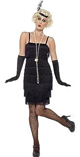 Smiffys - Disfraz para mujer, Flapper, años 20, Negro, M ...