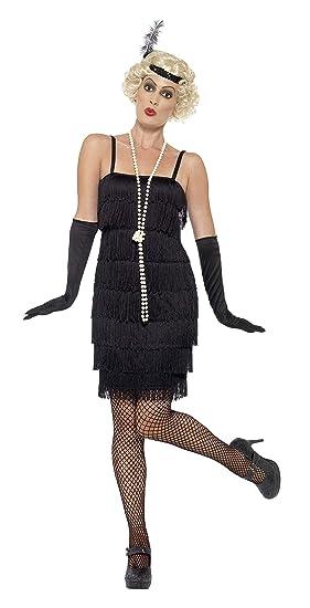 c44c21c96 Smiffy's - Disfraz para mujer, Flapper, años '20, Negro, M (40-42 EU)