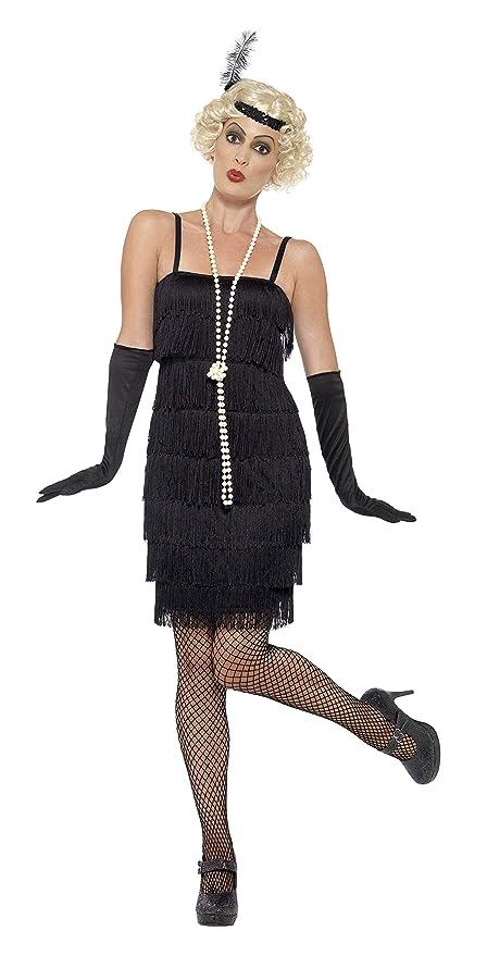 ultima collezione valore eccezionale nuova alta qualità Smiffys Costume Flapper, Nero, abito corto, fascia per capelli e guanti